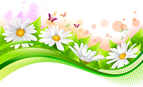 500x305 Spring Flowers Grass Bush Free Vector Download (11,731 Free Vector