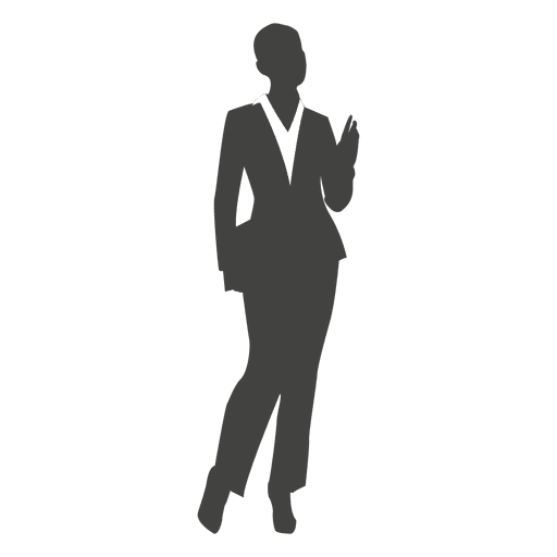 512x512 Young Businesswoman Silhouette
