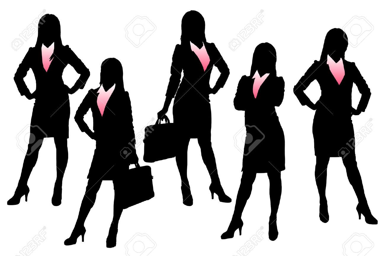 1300x866 Business Lady Silhouette