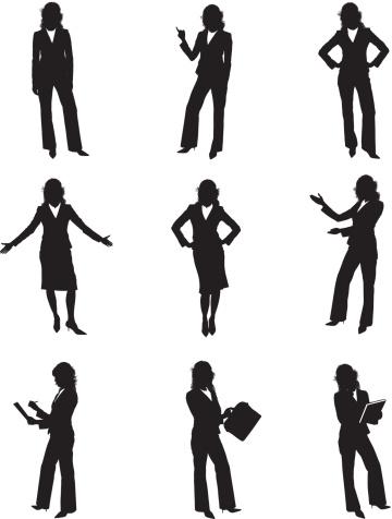 360x476 Businesswoman Clipart Silhouette Clip Board
