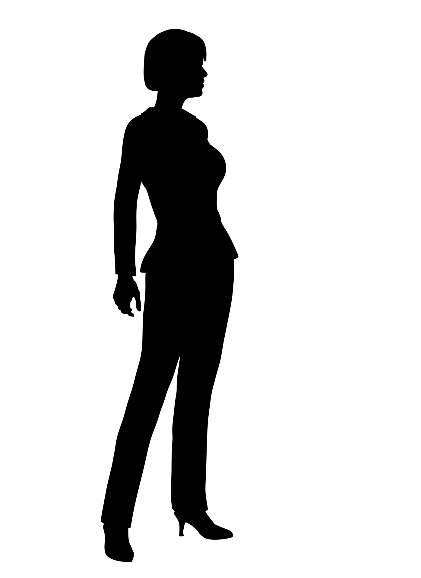 1396x1919 Business Woman Silhouette Free Stock Photo