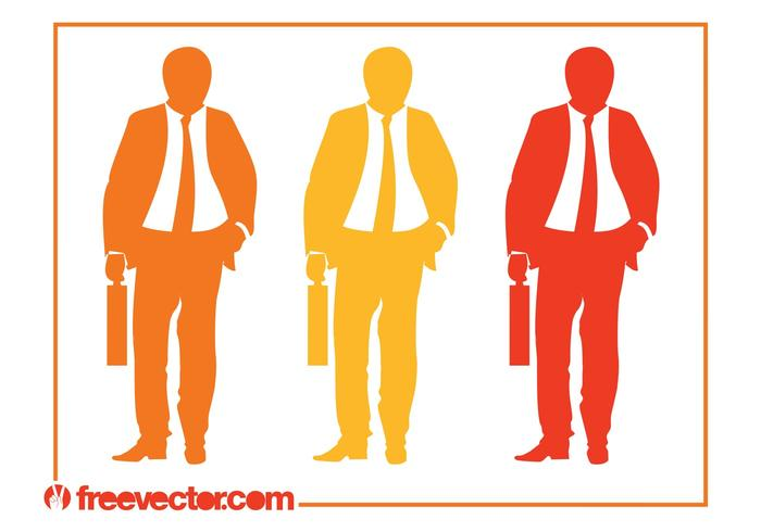 700x490 Businessman With Briefcase Silhouettes