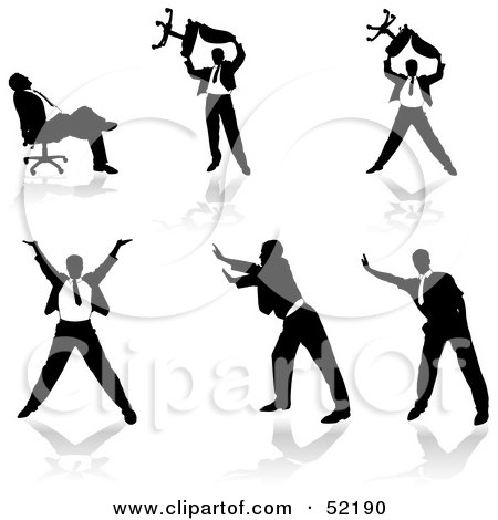 450x470 Royalty Free (Rf) Silhouetted Businessman Clipart, Illustrations