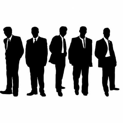 425x425 Free Vector Business People Silhouettes Free Vectors Ui Download