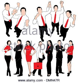 300x320 Talking Business People Silhouettes Isolated On White With Chinese