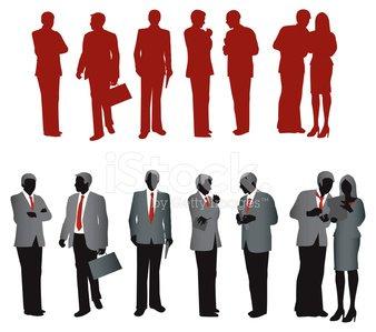 338x299 Business Corporate Team Silhouettes Premium Clipart