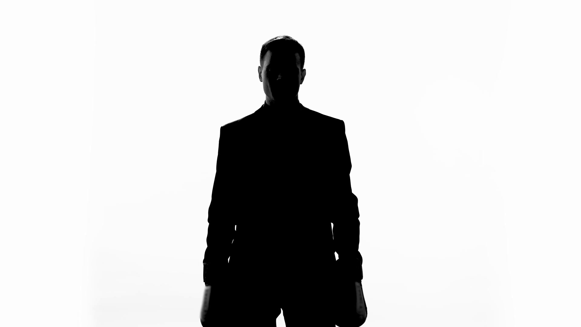 1920x1080 Businessman Silhouette In Boxing Gloves Celebrating Successful