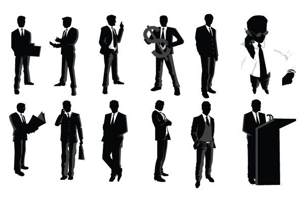 600x400 Businessman Silhouettes Silhouette Silhouette