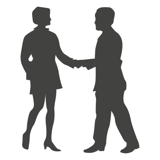 512x512 Business Woman Meeting Businessman Silhouette