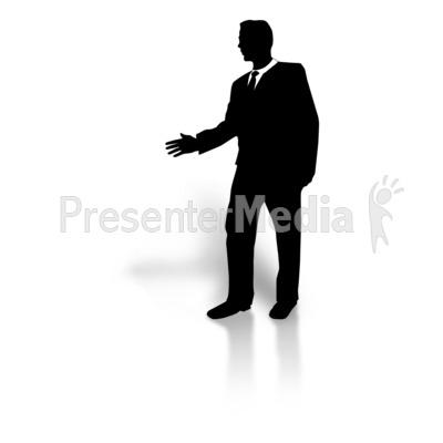 400x400 Businessman Silhouette Greeting