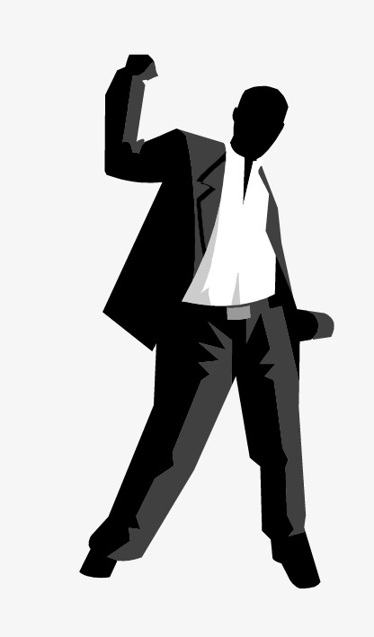 416x709 Man Silhouette, Business Man, Handsome Business People, Business