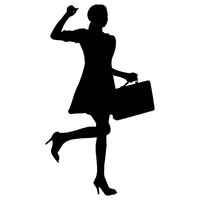 Businesswoman Silhouette