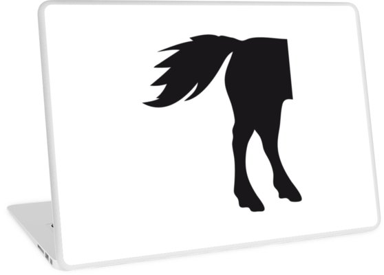 558x400 Horses Ass Butt Buttock Horse Outline Silhouette Shadow Symbol