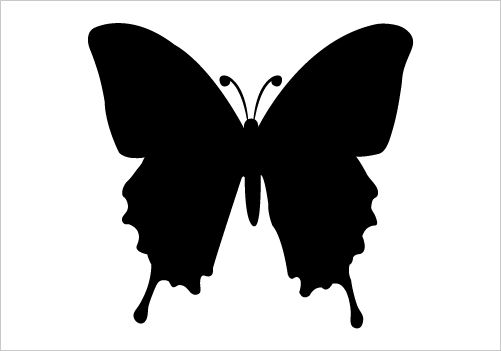 501x351 Butterfly Silhouette Vector Silhouette Graphics Stencils