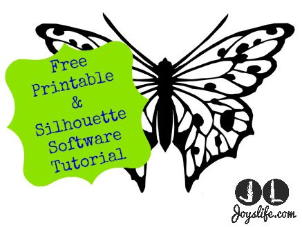 437x329 Free Butterfly Printable Amp How To Use With Silhouette Software