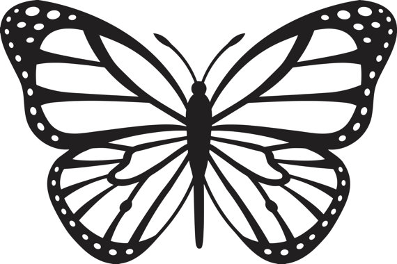 570x380 Butterfly Silhouette Decal Sticker