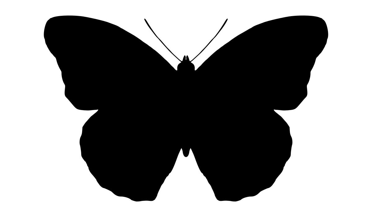 1200x700 Butterfly Silhouette Clipart