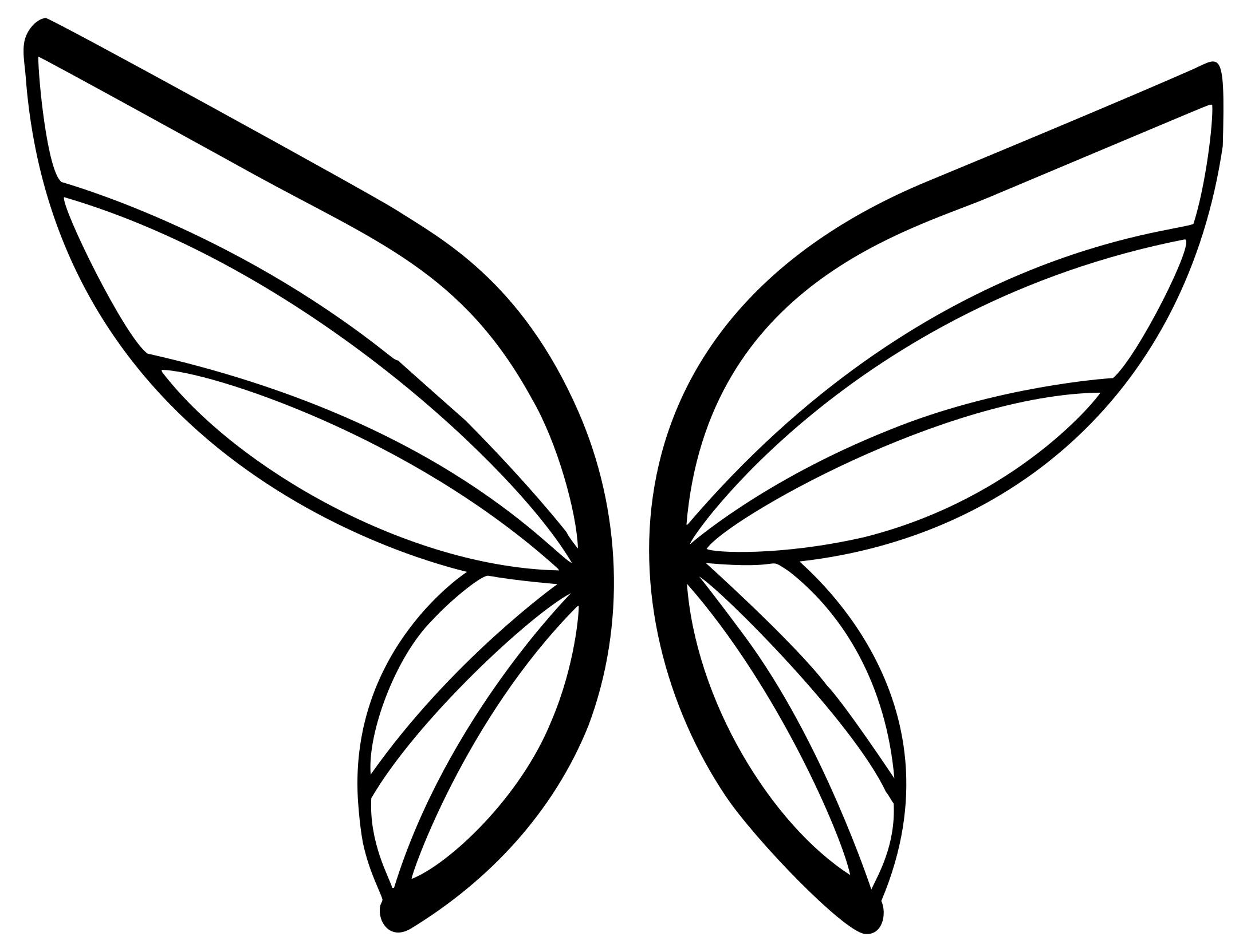 2177x1663 Abstract Butterfly Silhouette 2 Clipart