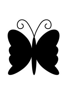 243x340 Free Cliparts Silhouette, Butterfly