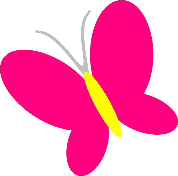 600x592 Black Butterfly Silhouette Free Clip Art Simple Clipart