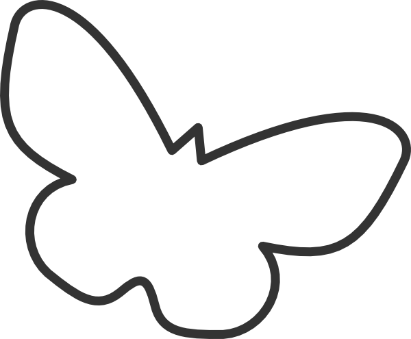 600x495 Butterfly Silhouette Cropped Clip Art