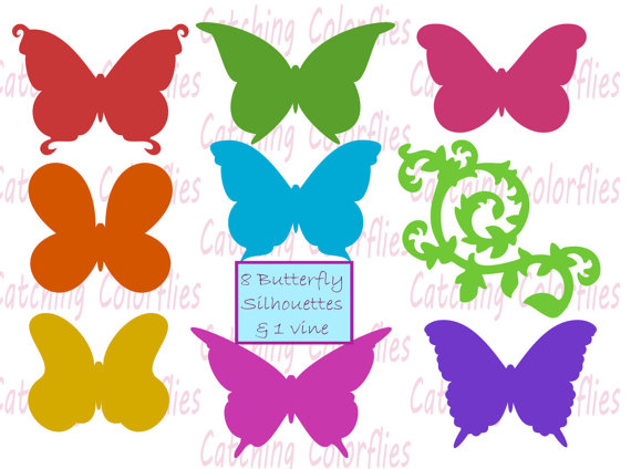 570x424 Butterfly Silhouette Svg Cut Files Butterfly Cut Files