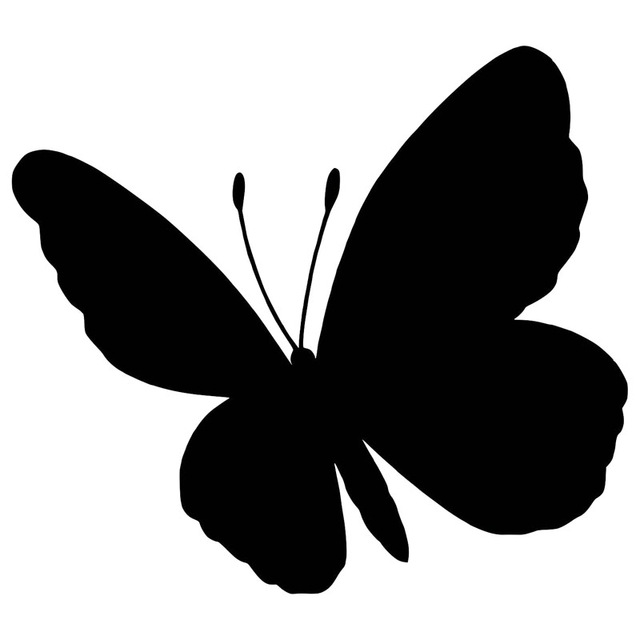 640x640 14.612.9cm Lucky Butterfly Silhouette Decorative Car Sticker