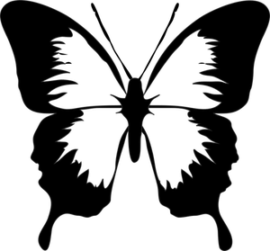 300x279 210 Free Butterfly Vector Clip Art Public Domain Vectors