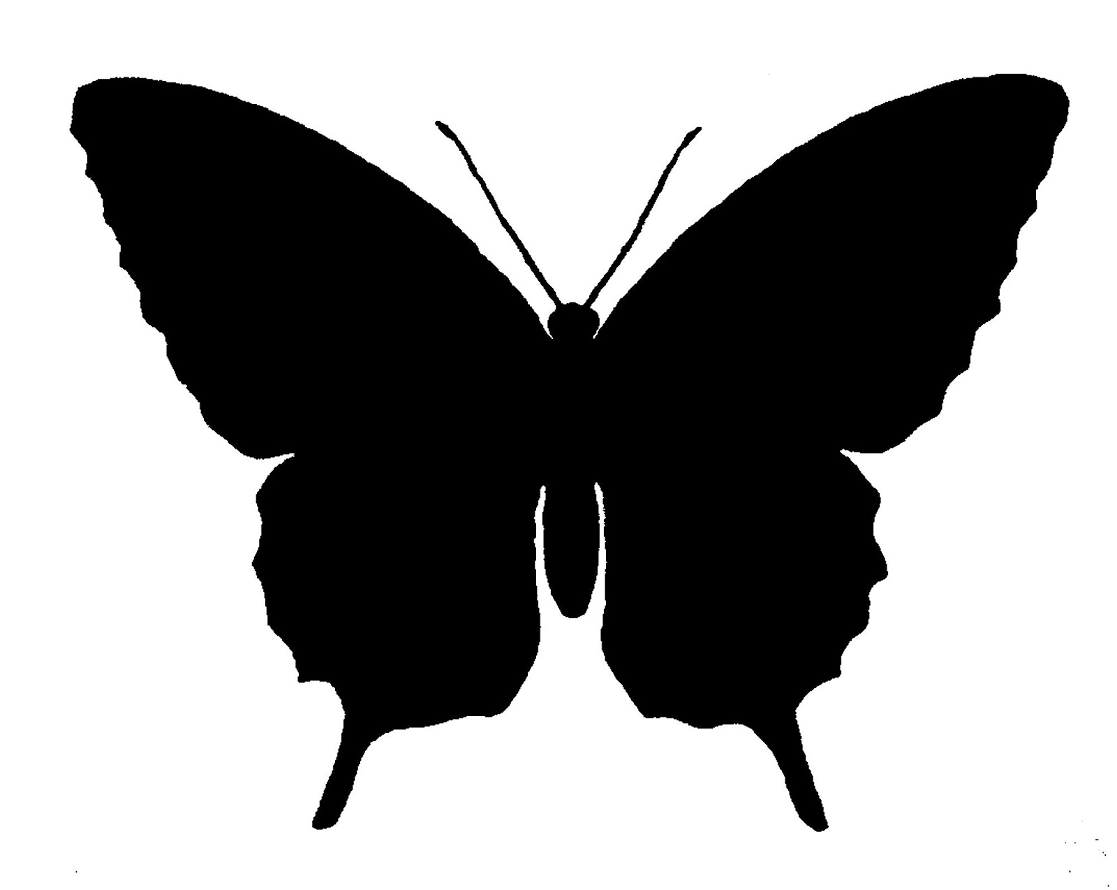 1600x1274 The Graphics Monarch Free Butterfly Silhouette Image Grayscale