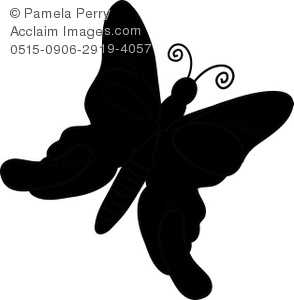 294x300 Art Illustration Of A Butterfly Silhouette