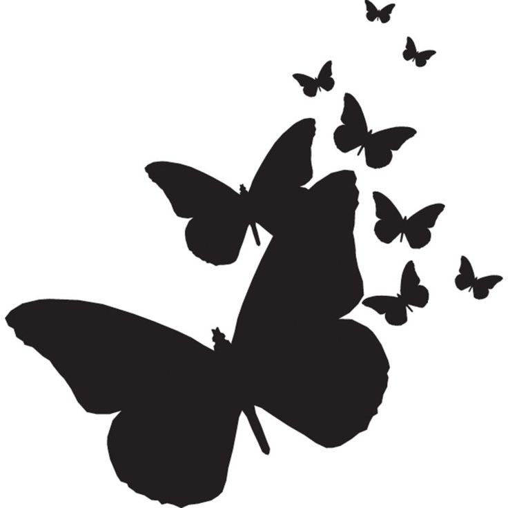 Butterfly Silhouette Tattoo