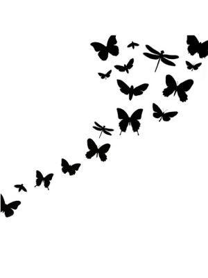 300x400 Butterfly Silhouette Tattoo Ella Oh How I Wish (Tattoos