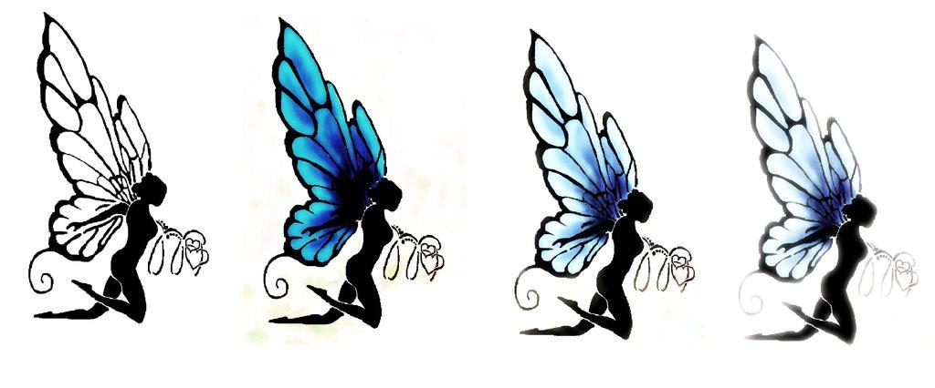 1024x426 Fairy Silhouette Tattoo By Hinyart