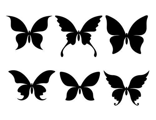 500x386 Large Free Butterfly Silhouettes