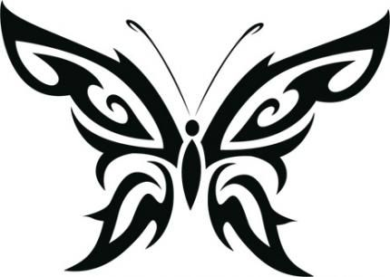 430x306 Tribal Clipart Butterfly Tribal