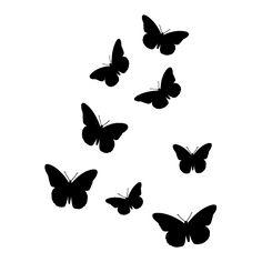 236x236 Flying Black Butterfly