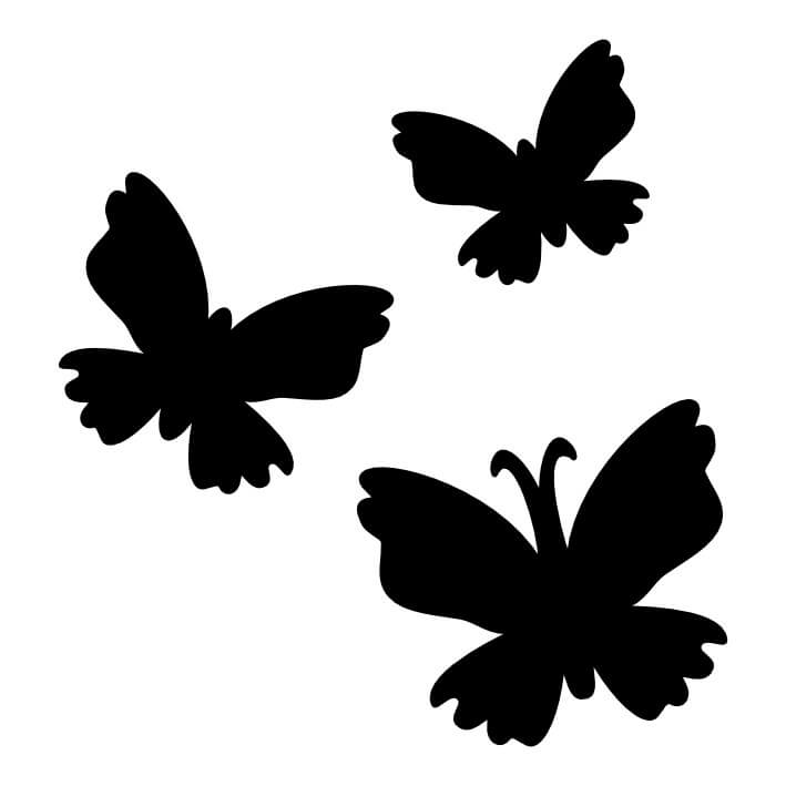 709x709 Butterflies (058) Glitter Tattoo Stencils Fun Amp Glitter
