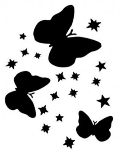395x500 Butterflies Amp Stars Stencil For Tattoo Spray Tattooforaweek