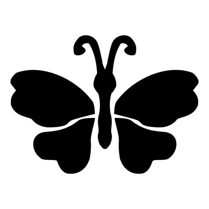 709x709 Butterfly (006) Glitter Tattoo Stencils Fun Amp Glitter