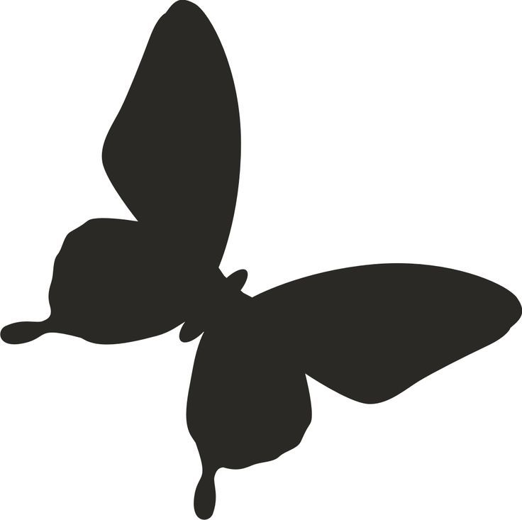 736x733 Butterfly Silhouette Tattoo Tattoos I Love
