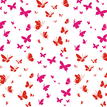 350x350 Little Butterflies Stencil 2