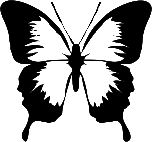600x559 Butterfly Clip Art Stenciling, Butterfly And Silhouette