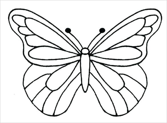 585x432 Best Small Butterfly Tattoo Outline Drawing Images On Photo About