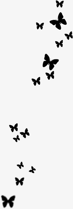 247x703 Black Butterfly Silhouette Tanabata, Black, Butterfly, Sketch Png