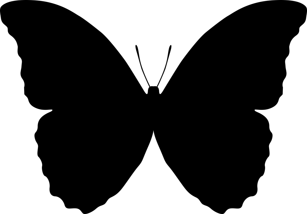 1004x699 Butterfly Silhouette Vector Coreldraw Vector (.cdr) File Free