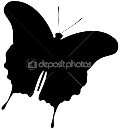 420x448 Butterfly Silhouette Stock Vector