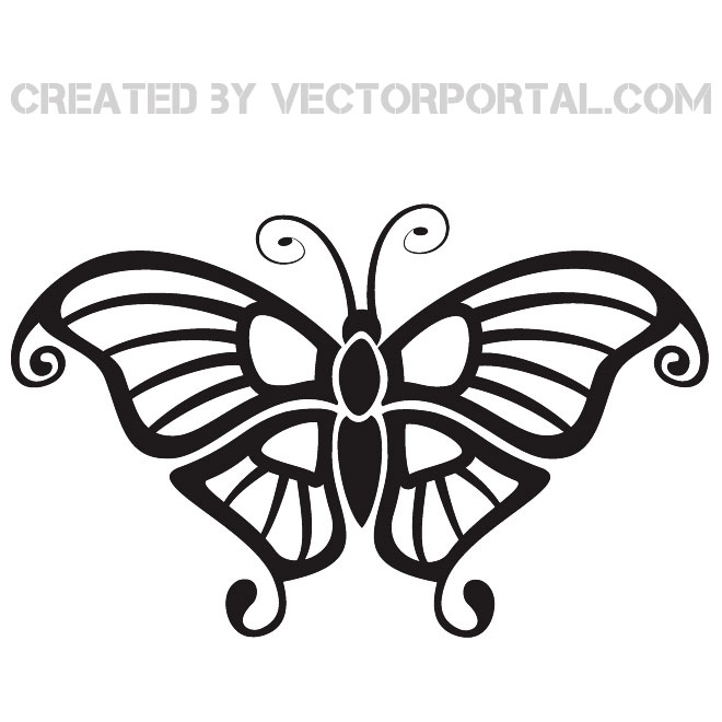 660x660 Butterfly Silhouettes Free Vector 123freevectors