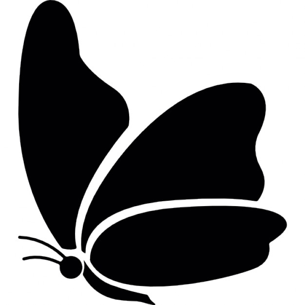 626x626 Black Butterfly Icons Free Download