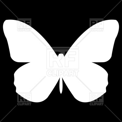 400x400 Butterfly Silhouette Royalty Free Vector Clip Art Image