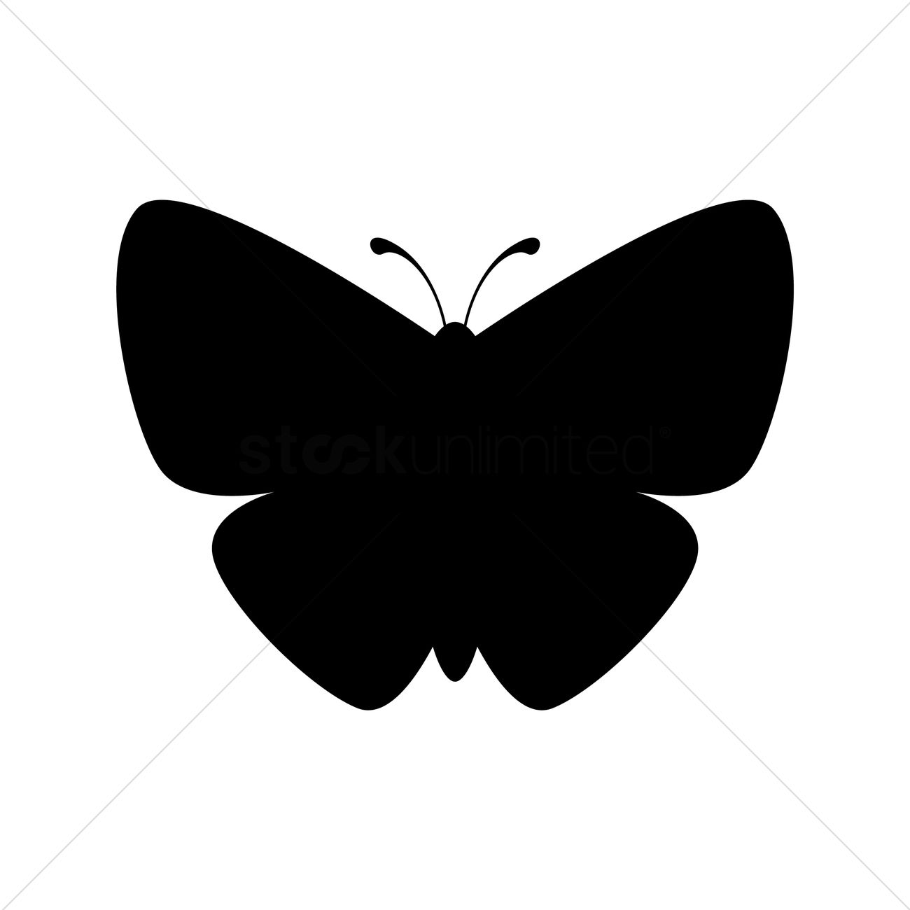 1300x1300 Butterfly Silhouette Vector Image